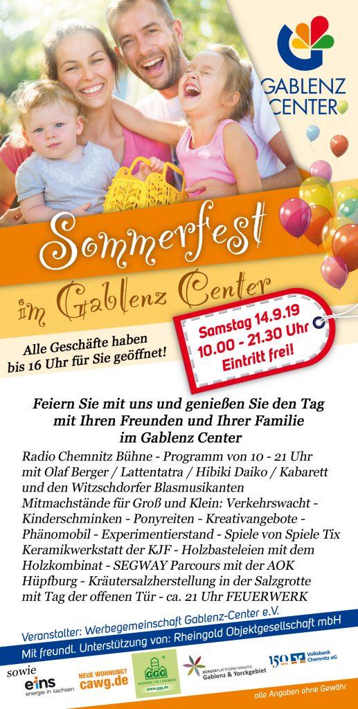 Sommerfest im Gablenz Center 14.09.19