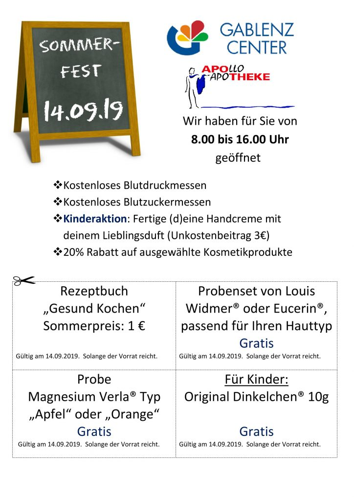 Sommerfest im Gablenz Center am 14.09.19