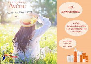 Sommerrabatt: 20% auf alle Sonnenschutzprodukte von Avène