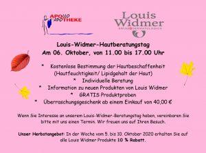 Widmer-Hautberatungstag 06. Oktober 2020